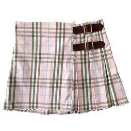 Burberry-Skirt-Black,Pink,White,Blue