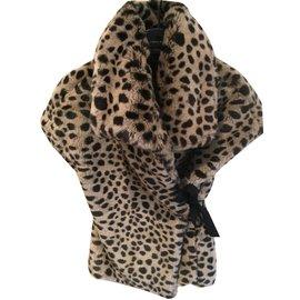 Monnalisa-Blousons, manteaux filles-Imprimé léopard