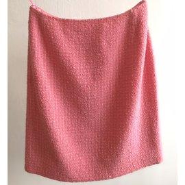 Chanel-Tweed skirt-Pink