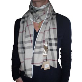 Burberry-Scarves-Cream