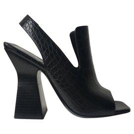 Céline-CELINE Sandals-Black