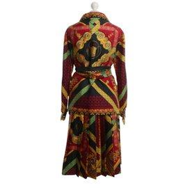 Hermès-Tailleur jupe-Multicolore