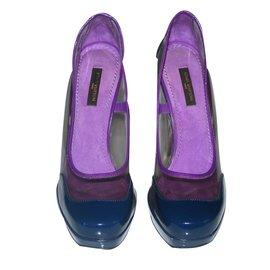 Louis Vuitton-Escarpins-Bleu,Violet