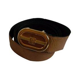 Pierre Balmain-Belts-Mustard