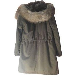 Yves Salomon-Coats, Outerwear-Khaki
