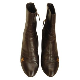 Louis Vuitton-Bottines-Marron
