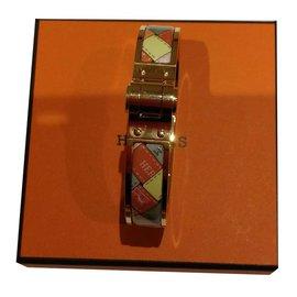 Hermès-Bracelet Hermès charnière fin-Doré