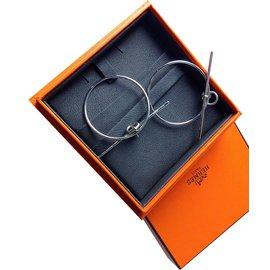 Hermès-Boucle d'oreilles Loop-Argenté