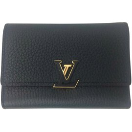 Louis Vuitton-Portefeuille Capucines-Noir,Rose