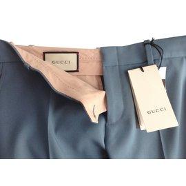 Gucci-Pantalons-Bleu