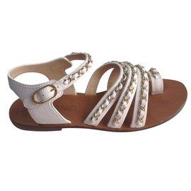 Chanel-Sandals-White