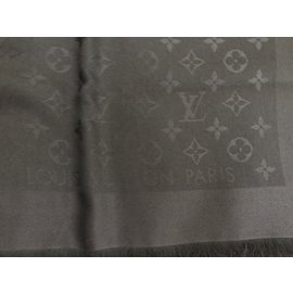 Louis Vuitton-CHALE monogram LOUIS VUITTON-Noir