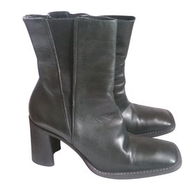 Costume National-Ankle Boots-Olive green