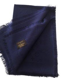 ... Louis Vuitton-Foulard monogrammé-Bleu 073c3b419aa