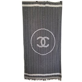 Chanel-serviette chanel-Blanc