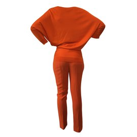 Alexander Mcqueen-Pull et pantalon orange Alexander McQueen-Orange