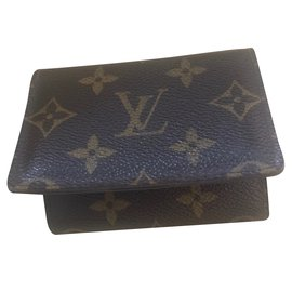 Louis Vuitton-Porte cartes-Marron foncé