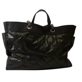 Chanel-Chanel Paris Biarritz Tote Bag-Black