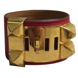 Hermès-Collier de chien-Rouge