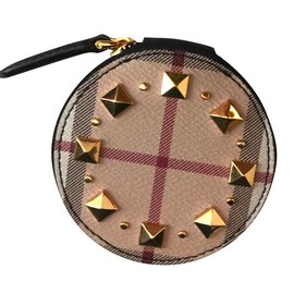 Burberry-studded coin purse-Multiple colors,Beige