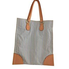 Louis Vuitton-Shopper Sac a Tanger-White,Blue,Multiple colors