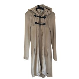 Burberry-long cardigan-Beige