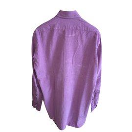 Blumarine-Blumarine uomo men's velvet pink shirt-Pink