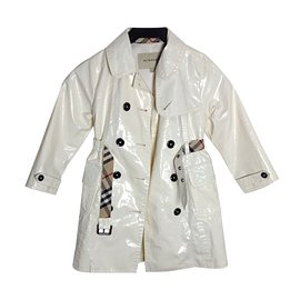 Burberry-Girl Coats outerwear-White