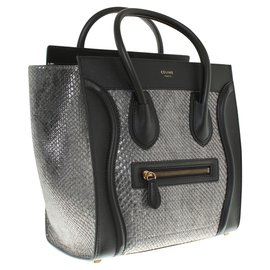 Céline-Handbags-Black,Grey