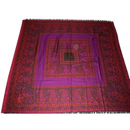 Yves Saint Laurent-Foulard-Multicolore,Violet