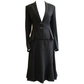 Strenesse-Tailleur jupe-Noir