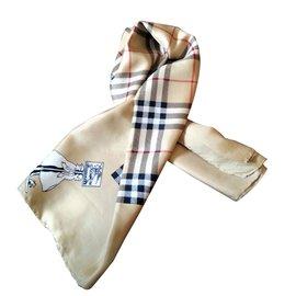 Burberry-Silk scarf-Beige
