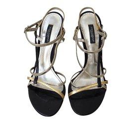 Sandales Pour Les Femmes En Vente, Or Clair, Cuir, 2017, 35 Dolce & Gabbana