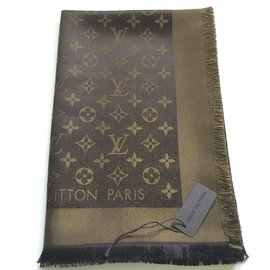 Louis Vuitton-Classical Monogram Scarf-Brown ... e672920962c