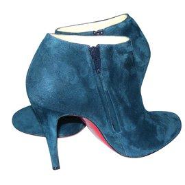 Christian Louboutin-Boots à talons sublimes !-Bleu