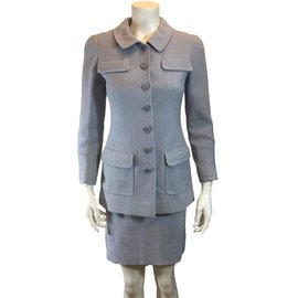 Chanel-Skirt suit-Blue