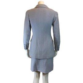 Chanel-Tailleur jupe-Bleu