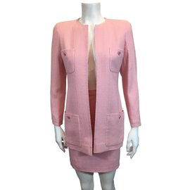 Chanel-Tailleur jupe-Rose