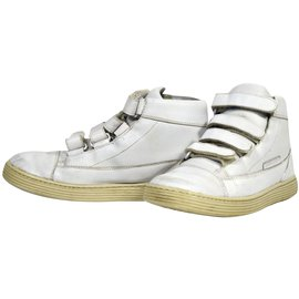 Autre Marque-N198 baskets little marc jacobs cuir blanc t.36 uk 3-Blanc