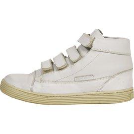 Autre Marque-N198 baskets little marc jacobs cuir blanc t.36 uk 3-Blanc