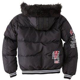 Autre Marque-Geographical Norway Aukland Boy blouson doudoune capuche hiver garçon 12/14 ans-Noir