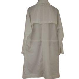 Hermès-Imperméable blanc-Blanc