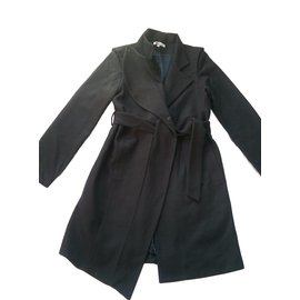 Les Petites-Coats, Outerwear-Black,Navy blue