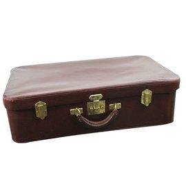Hermès-Travel bag-Dark red