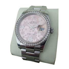 Rolex-MONTRE ROLEX DATEJUST DIAMANTS-Autre