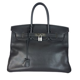 Hermès-Birkin 35 Epsom Graphite-Gris,Gris anthracite