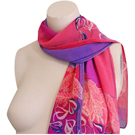 Halston Heritage-Silk scarves-Pink,Purple