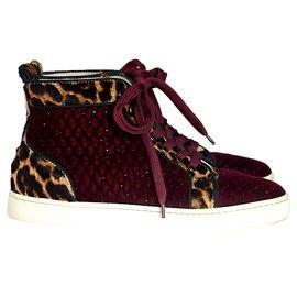 Christian Louboutin-Sneakers-Dark red