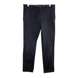 Aquascutum-Pantalons homme-Bleu