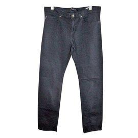 Aquascutum-Aquascutum men's 5 pockets pants new-Blue